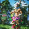 Joaquin Chavez, Grupo Ajolote Circle of Aztec Dancers